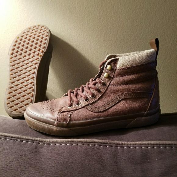 6ce2241ed32643 Vans Shoes - Vans SK8-Hi MTE Brown Herringbone